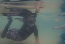 Glen snorkeling at The Baths