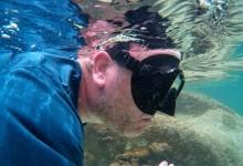 John snorkeling at The Baths