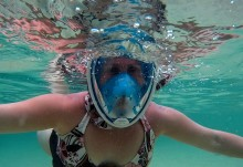 Me snorkeling at The Baths