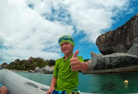 """Erik giving the """"thumbs up"""" at The Baths"""