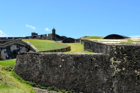 Grassy areas within the fort walls