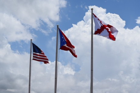 Flags at the fort
