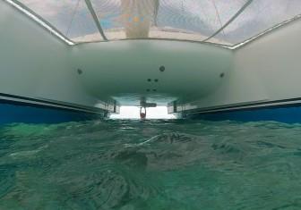 Glen under the boat
