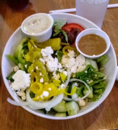 Greek Salad at Mellow Mushroom