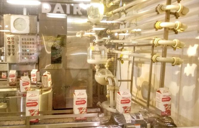 Milk packaging display