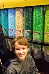 Erik picking out a treat