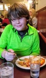 Glen enjoying his meal