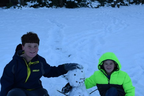 Glen and Erik's snowman