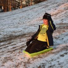 Glen sledding