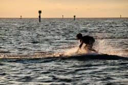 Dinghy surfing